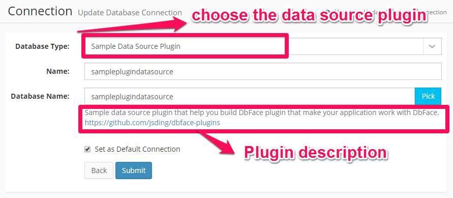 Use the data source plugin