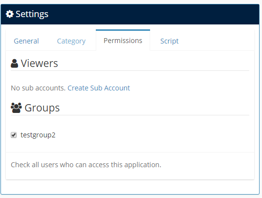 Edit users or user groups permissions at application builder page